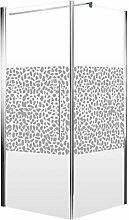 Schulte Duschkabine Glas-Dusche 80x80, 5mm Stärke