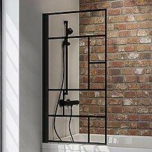 Schulte Duschwand Black Style, 80 x 140 cm, 5 mm