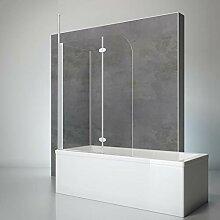 Schulte Duschwand mit Seitenwand, 116 x 140 x 70
