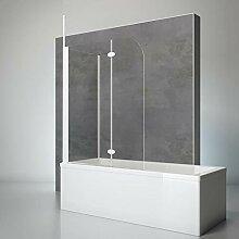 Schulte Duschwand mit Seitenwand, 116 x 140 x 75