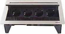 Schulte EVOline FlipTop Push M 4x VDE Steckdosen, 159370002700