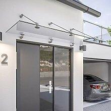 Schulte Vordach 160x90 cm Glas Haustür