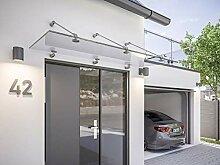 SCHULTE Vordach 180x90 cm Glas Haustür
