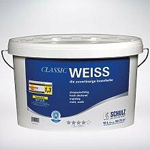Schulz Classic Weiss, Wandfarbe, Innenfarbe, weiß, 10l