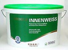 Schulz Premium Innenweiss, Natur und Wohnen, ökologische Wandfarbe, Innenfarbe, allergikerfreundlich, 5l