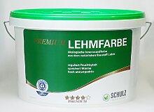 Schulz Premium Lehmfarbe, Natur und Wohnen, ökologische Wandfarbe, Innenfarbe, allergikerfreundlich, 10l