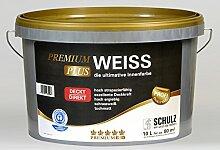 Schulz Premium Weiss Plus, Wandfarbe, Innenfarbe, weiß, 5l, Premium-Qualität PLUS