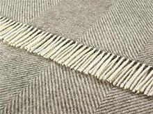 Schurwolle Decke/Überwurf–Natural