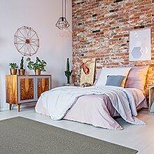 Schurwolle Teppich Shepherd - Farbe wählbar | 100% strapazierfähige Naturfaser Wolle | für Fußbodenheizung geeignet | Aufwertung für Wohnzimmer Schlafzimmer Esszimmer Büros u.v.m., Farbe:Dunkel-Grau, Größe:140 x 200 cm