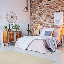 Schurwolle Teppich Shepherd - Farbe wählbar | 100% strapazierfähige Naturfaser Wolle | für Fußbodenheizung geeignet | Aufwertung für Wohnzimmer Schlafzimmer Esszimmer Büros u.v.m., Farbe:Weiß, Größe:200 x 300 cm