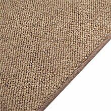Schurwolle Teppich Shepherd Läufer - Farbe wählbar | 100% strapazierfähige Naturfaser Wolle | für Fußbodenheizung geeignet | Aufwertung für Wohnzimmer Schlafzimmer Gästezimmer Büros u.v.m., Farbe:Caramel, Größe:100 x 350 cm