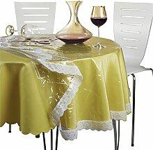 Schutz-Tischdecke Spitze transparent Größe oval:
