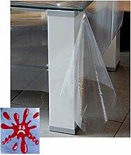 Schutzdecke eckig 110x140 cm transparent