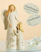 Schutzengel mit Kind rechts Mutmacher Engel Figur