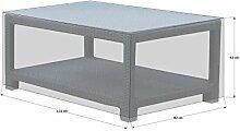 Schutzhülle 120x80cm Lanzarote Lounge Tisch Beistelltisch Sofatisch PE Weiß