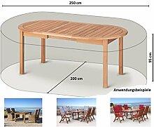 Schutzhülle 250x200x95cm Sitzgruppe Gartenmöbel Essgruppe Abdeckplane Weiß
