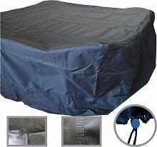Schutzhülle 300x250x100cm schwarz extra stark Abdeckplane Sitzgruppe PVC