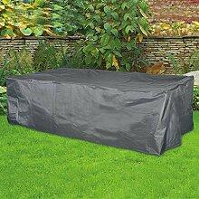 Schutzhülle 350x150x95 cm grau Abdeckung für Gartenmöbel Sitzgruppe
