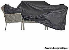 Schutzhülle extra stark 215x170x100cm schwarz für lange Sitzgruppen
