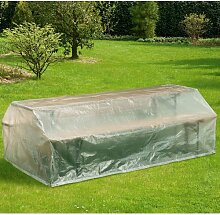 Schutzhülle für Bierzeltgarnitur, 220x120 cm, Abdeckhaube, transparen