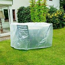 Schutzhülle für Gartentische ca. 200x95 cm, PE, 75g/m2, transparen