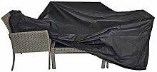 Schutzhülle für lange Sitzgruppen schwarz 215x170x100 cm wasserdich