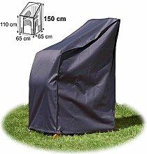Schutzhülle für Stapelstühle Hülle 150 cm hoch Abdeckhaube grau