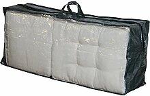 Schutzhülle für Stuhlkissen grau mit Reißverschluss 125x32x50 cm