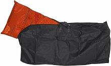 Schutzhülle für Stuhlkissen mit Reißverschluß, 300Dx300D Polyester, wasserdicht durch PVC-Beschichtung innen