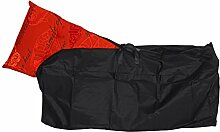 Schutzhülle für Stuhlkissen schwarz wasserdicht 125x32x50 cm