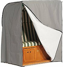 Schutzhülle grau 2-Sitzer (schwere Ausführung) Sonnenpartner - Strandkorb Schutzhülle - schwere Ausführung - Sonnenpartner - Schutz und Pflege - winterfes