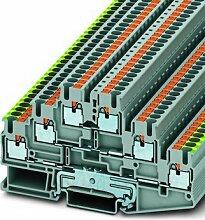 Schutzleiter-Reihenklemme 5,2 mm, grau PT 2,5-PE/L/L,Elektroinstallation,Phoenix Contact,PT 2,5-PE/L/L,4046356422628