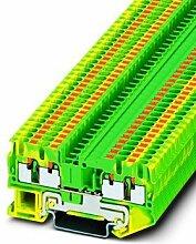 Schutzleiter-Reihenklemme 5,2 mm, grün-gelb PT 2,5-QUATTRO-PE,Elektroinstallation,Phoenix Contact,PT 2,5-QUATTRO-PE,4046356329842