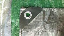 Schutzplane 4mx8m 130g Silber-Grün Abdeckplane Gewebeplane Gartenplane