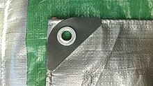 Schutzplane 6mx12m 130g Silber-Grün Abdeckplane Gewebeplane Gartenplane