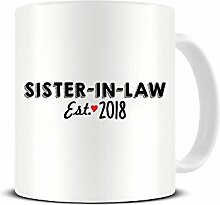 Schwägerin Est. Keramik-Kaffeetasse 2018 –