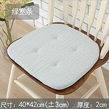 Schwamm die Sitzkissen Tatami Matten Stuhl Esstisch 40 * 42 cm, grün - Breite