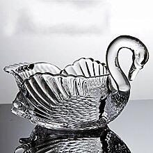 Schwan obst korb ständer,Obst korb schüssel stand kristall für hochzeitsfest gäste unterhaltungsveranstaltungen anzeigen-A L12*H7inch(30*17.5cm)