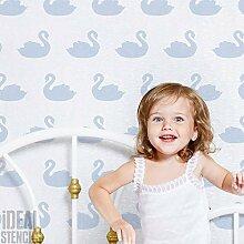 Schwanen- Muster schablone-startseite Kinderzimmer Wand Schablone Kunst & Handwerk Schablone Wandfarbe Stoffe & Möbel - halb transparent Schablone, Xlarge-50x75cm see images