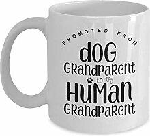 Schwangerschafts-Ankündigung Hund Großeltern zu
