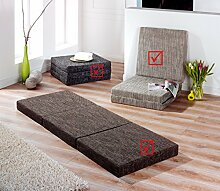 Schwar Textilien Klappmatratze Faltmatratze Matratze Gästebett Trend (Hellgrau)