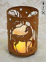 Schwartinsky Weihnachtsdeko Teelichthalter mit Reh