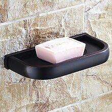 Schwarz antike voll Kupfer Seifenschale/Bronze Bad-Accessoires/Einfache Seifenschale aus Keramik/Soap-Becken