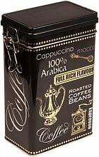 Schwarz Arabica Kaffee–Vintage Style eckig Kaffee Dose/Tee Caddy/Küche Blechdose/Vorratsdose Kanister–hermetisch abgedichte