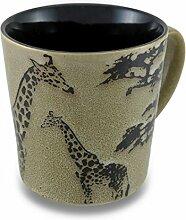 Schwarz/Beige-Paar, 13 oz-Keramik-Becher für