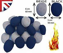 Schwarz/Beige/Weiß/Grau Ersatz Keramik Gas