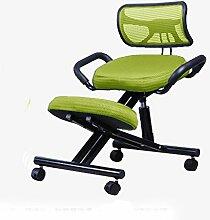 Schwarz / Blau / Grün / Lila Mesh + Schwamm Haushalt Computer Stuhl Mit Armlehnen Stahlkorrektur-Schreibstuhl Studenten Sind Posen Stuhl Mit Rückenlehne Aus Mesh ( Farbe : Grün )
