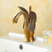 Schwarz Chrom Golden Swan Becken Waschbecken