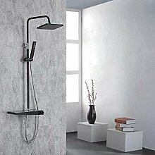 Schwarz Duschset Duschzubehör Duschsystem mit