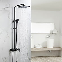 Schwarz Duschsystem Duscharmatur Duschset